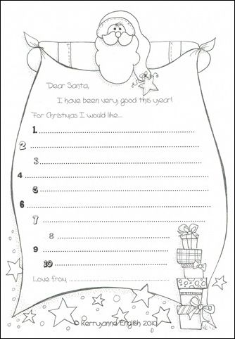 Dear Santa \u2013 Santa\u0027s Beard - Free Christmas Recipes, Coloring Pages - Kids Christmas List Template