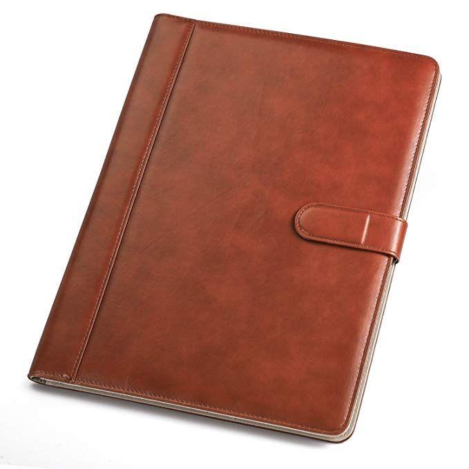 Amazon Com Padfolio Business Resume Portfolio Ahgxg Leather Folder With Clipboard Document Organizer With Paper Clip Leather Folder Paper Clip Writing Pad