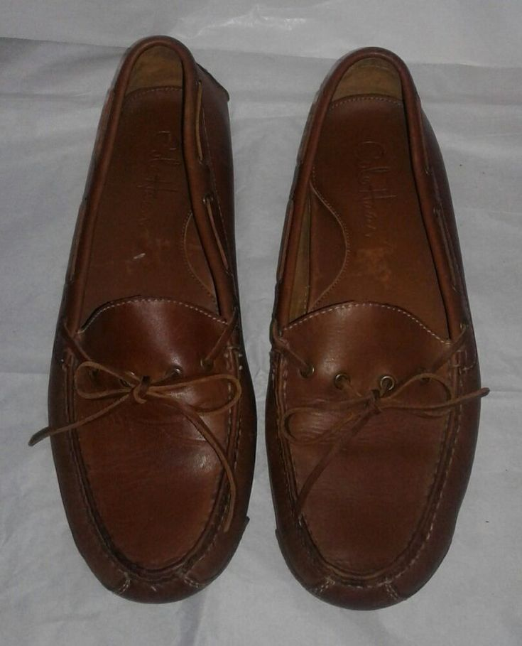 Men's Cole Haan Gunnison Driver Moccasin US 8.5D Brown Moc Loafer Leather #ColeHaan #LoafersSlipOns