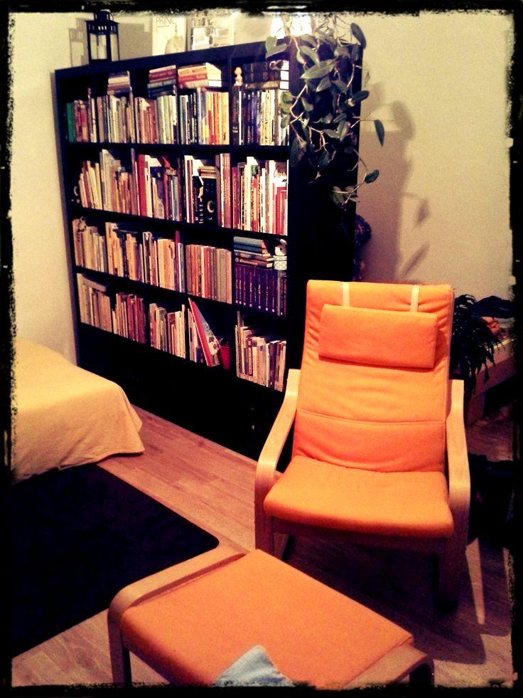 Tuto knihovnu mám moc rád. Je v ní skvělý výběr na čtení. Lepší než v Mahenově knihovně v Brně :) Knihovnu mám rád, ale majitelku miluji :)