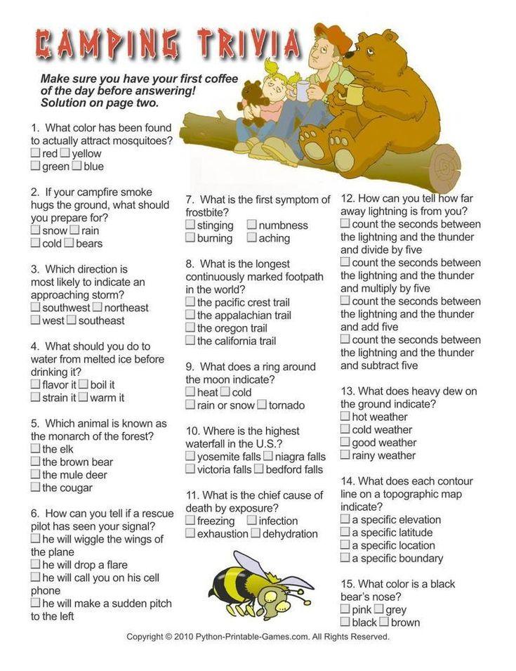 Camping Games Trivia 695