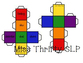 Miss Thrifty SLP: Colorful Semantics cubes