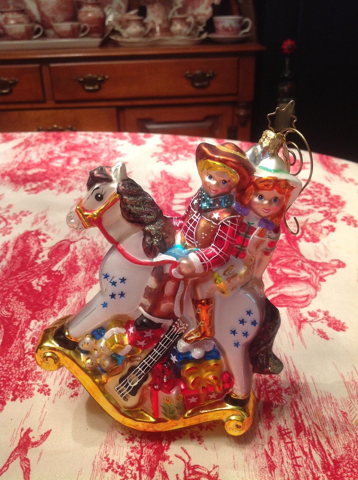 Large cowboy and cowgirl my christopher radko ornaments