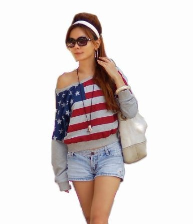 NI9NE Brand American Flag/dreamy Top Item #6029: Amazon.com: Clothing