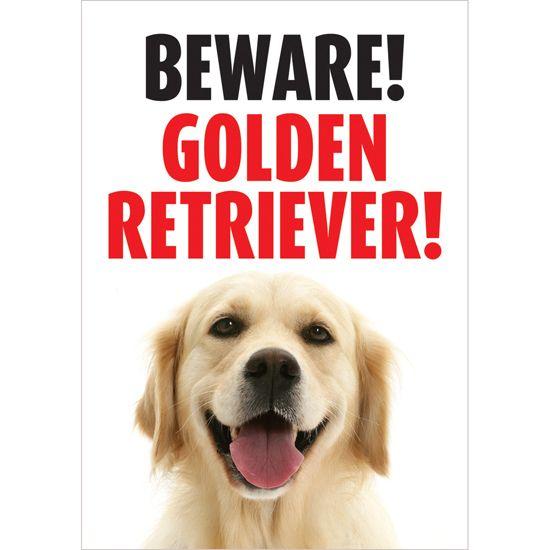 Beware Golden Retriever Gate/Door Sign