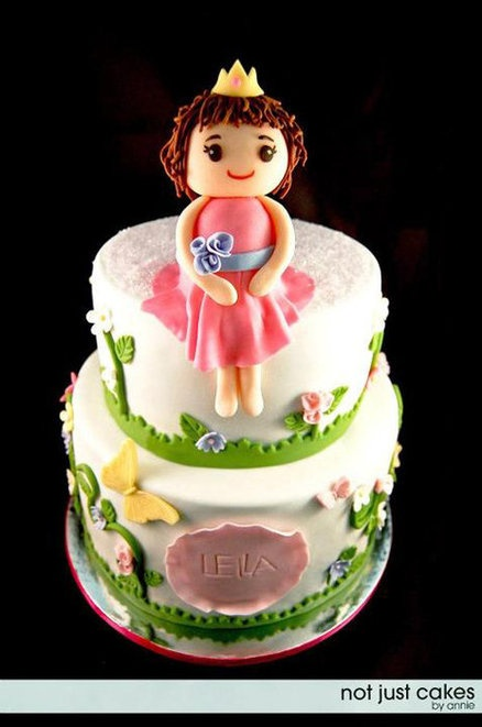 Gardern themed Princess Cake by Not Just Cakes by Annie.