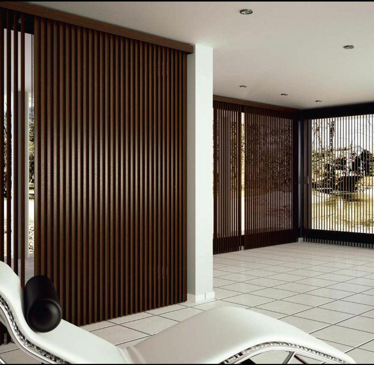 M s de 1000 ideas sobre persianas de madera en pinterest - Persianas madera exterior ...