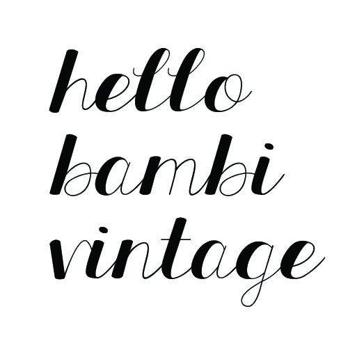 Cute & fun vintage homewares & fashion. https://www.etsy.com/au/shop/HelloBambiVintage