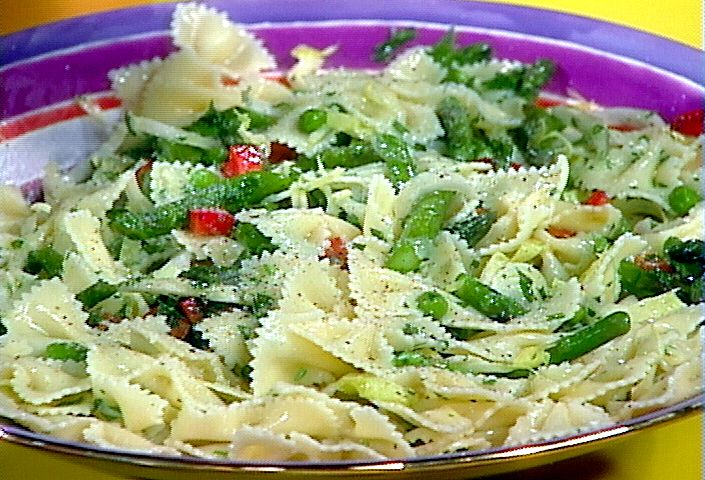 Asparagus Pasta Salad from FoodNetwork.com. Making it right now. So ...