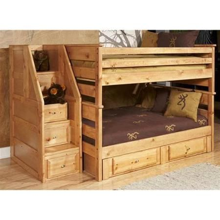 full over full bunk bed with storage and stairway chest walmartcom