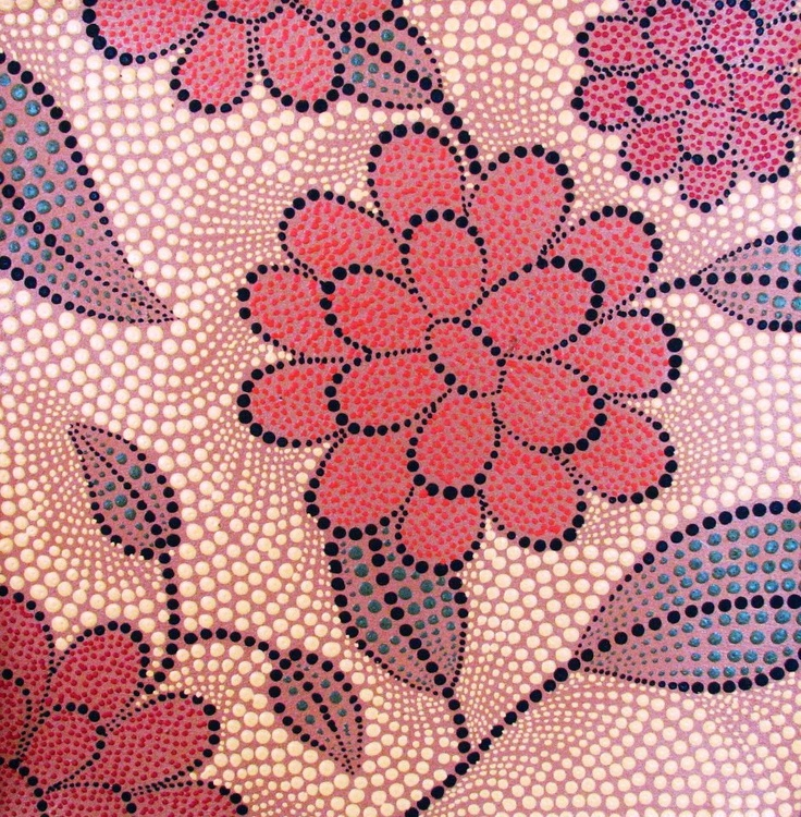 Beautiful hand-painted dot art from Bali, Indonesia.
