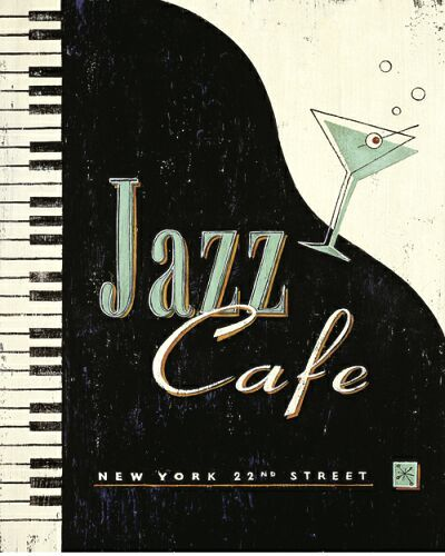 awesome jazz cafe poster