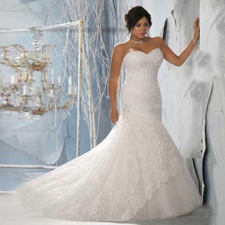 Mermaid Sweetheart Lace Wedding Dress at Bling Brides Bouquet online Bridal Store  #BlingBridesBouquet