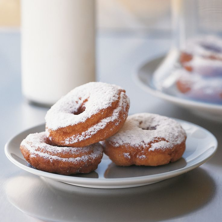 Crisp on the outside, light and moist on the inside, these doughnuts are comfort food through and through. Serve them warm with a generous sprinkling of confectioners' sugar, and you have a decadent breakfast or midnight snack.