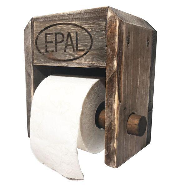 Klopapierhalter – Palettenmöbel: Toilettenpapier-Halter – ein Designerstück vo…