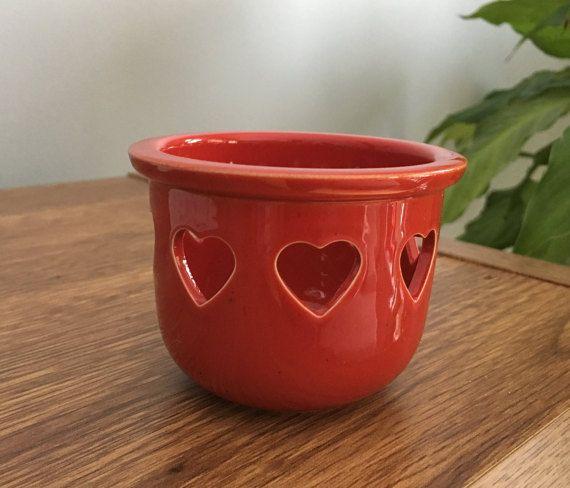 Höganäs Keramik Stengods Sweden Candle holder Ceramic Candle