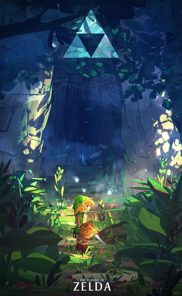 "This piece, ""Enter the Lost Woods"" by spiridt is lovely! So much mystery, and I love the sharp, vibrant colours and shapes used!"
