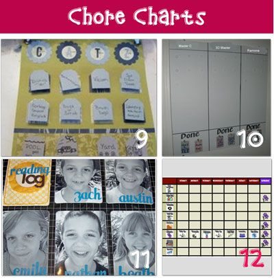 Kids love charts. When they get to see what they've accomplished, they seem to not mind doing the task as much.