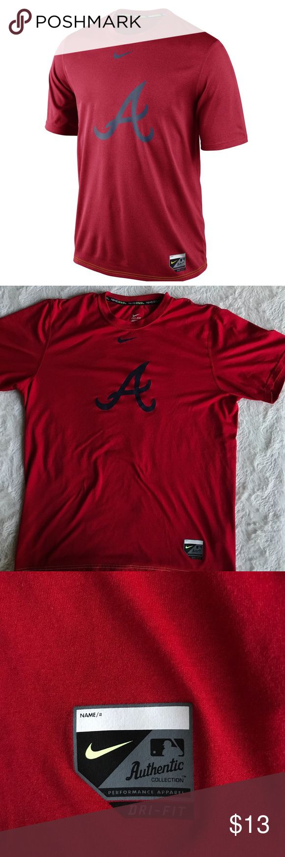 Nike Men'S Atlanta Braves Dri-Fit Legend T-Shirt Pre-owned in good condition no flaws All items are honestly presented to the best of my knowledge, and are stored in a non-smoking environment. Item is in great condition unless noted. No returns 