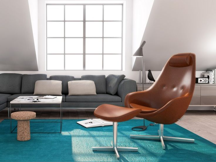 fauteuil cognac - leeszetel in slaapkamer