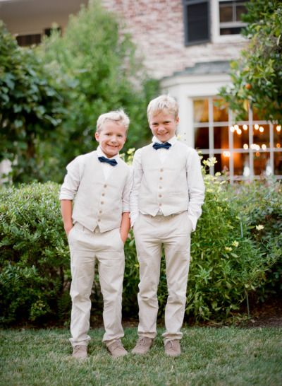 Cute Cali ring bearers: http://www.stylemepretty.com/2014/09/23/timeless-california-wedding-in-shades-of-pink/ | Photography: Tanja Lippert - http://www.tanjalippertphotography.com/