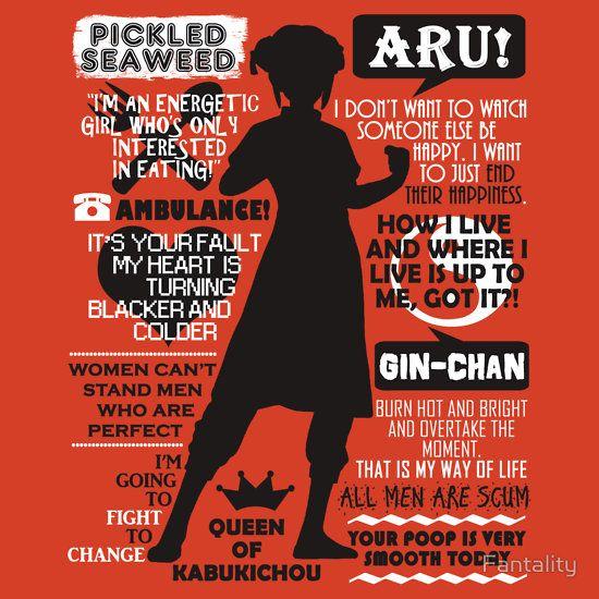 Gintama - Kagura Quotes | Women's T-Shirt