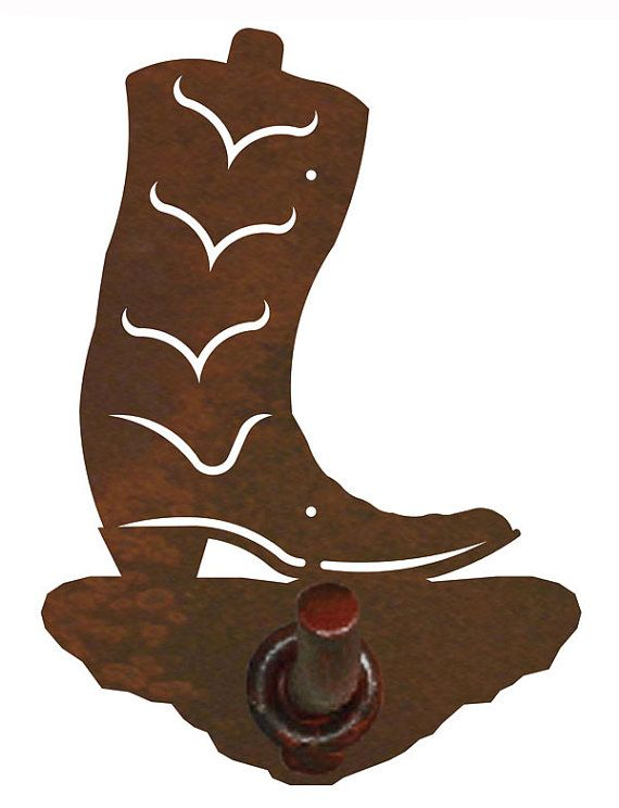 Cowboy Boot Bath Accessories 12ga Steel over by CabinExclusive