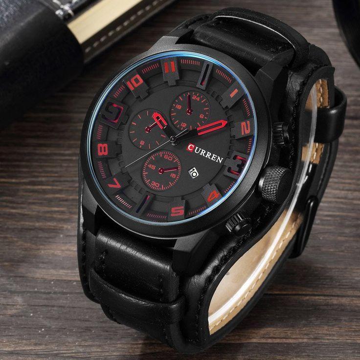 CURREN Luxury Top Brand Men's Sports Watches Fashion Casual Quartz-Watch Steampunk Men Military Wrist Watch Male Relogio Clock