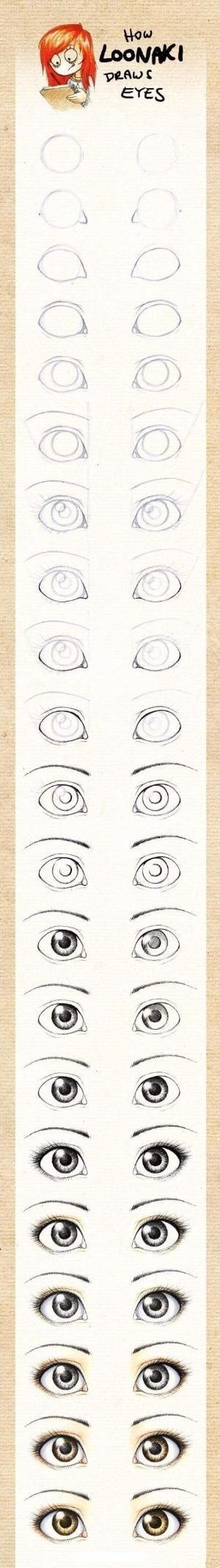 Cómo dibujar los ojos por JadeMonroe                              …