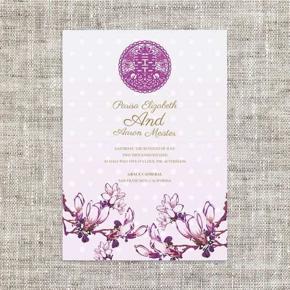 17 Best ideas about Chinese Wedding Invitation – Weddings Invitation Card