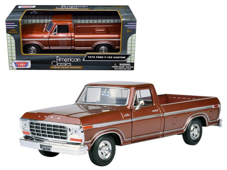 1979 ford f 150 pickup truck brown 1 24 diecast model car by motormax shore line hobby. Black Bedroom Furniture Sets. Home Design Ideas