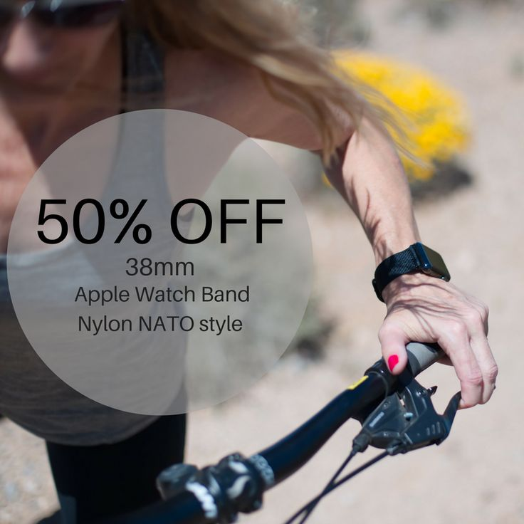 Join our VIP list and get an instant 50% OFF Amazon discount code on our Brand New 38mm BLACK NYLON NATO Apple Watch band!!!