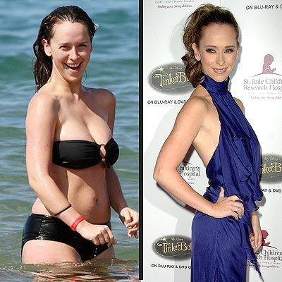 Jennifer Love Hewitt...looks great in both pics