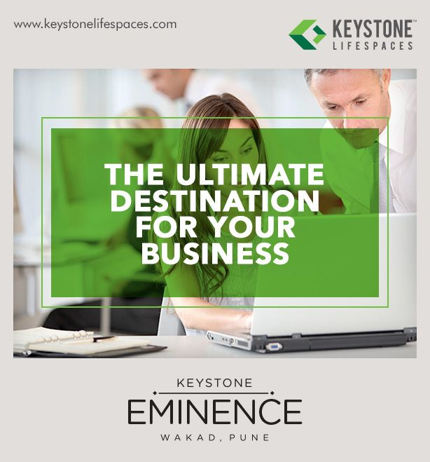 Keystone Eminence - The ultimate destination for your business www.keystonelifespaces.com #wakad #commercial #Office #Industry