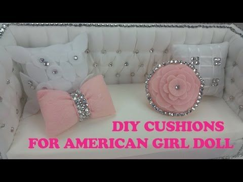 DIY AMERICAN GIRL DOLL SOFA/ How to Make American Girl Doll Couch - YouTube