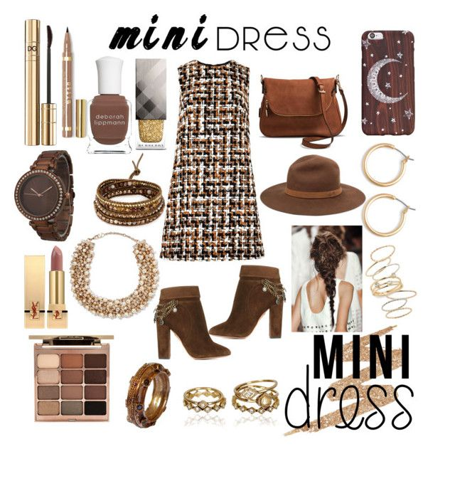 Festive mini dress by jumainakmir on Polyvore featuring polyvore, fashion, style, Dolce&Gabbana, Aquazzura, Moda Luxe, Olivia Pratt, Valentino, Chan Luu, Nordstrom, BP., rag & bone, Stila, Urban Decay, Yves Saint Laurent, Deborah Lippmann, Burberry, clothing and minidress