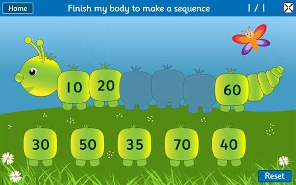 Ordering and Sequencing Numbers Games for children 4-11 years #mathgames #minibeasts