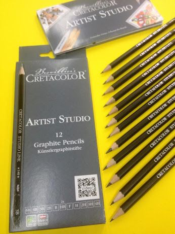 OFFERTISSIMA Cretacolor  € 5 ARTIST STUDIO Graphite Pencils  Set 12 matite in grafite nelle gradazioni 6B, 4B, 3B, 2B, B, HB(x2), F, H, 2H, 3H e 4H  #Cretacolor #pencil #drawing #students  #ColourAcademy #fineart #bari #puglia