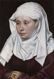 ROBERT CAMPIN, ritratto di dama, 1430