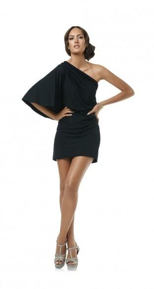 One Shoulder Short Dress by PILYQ Barcelona