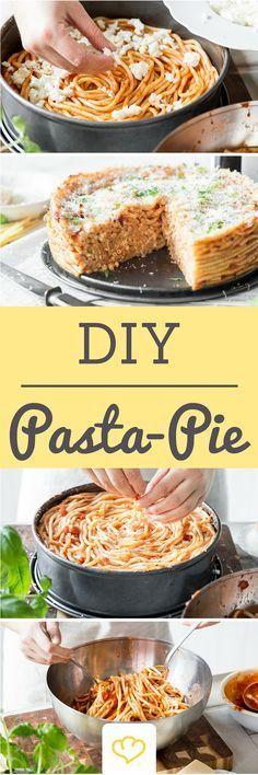 Pasta-Pie oder auch Maccharoni-Torte - Perfekt für die nächste Party!                                                                                                                                                                                 Mehr