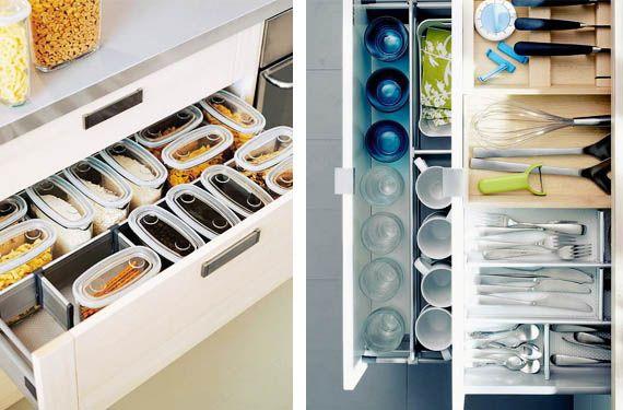 Organizadores de cajones para mantener el orden en la cocina - Orden en la cocina ...