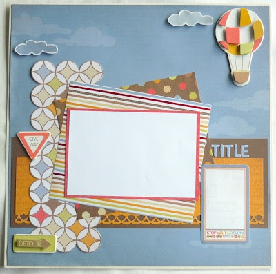 Layout Kit with Kaisercraft Little Toot, created by Hilary Nicholas