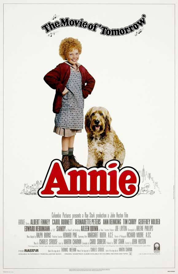 Annie released in 1982. Directed by John Huston.