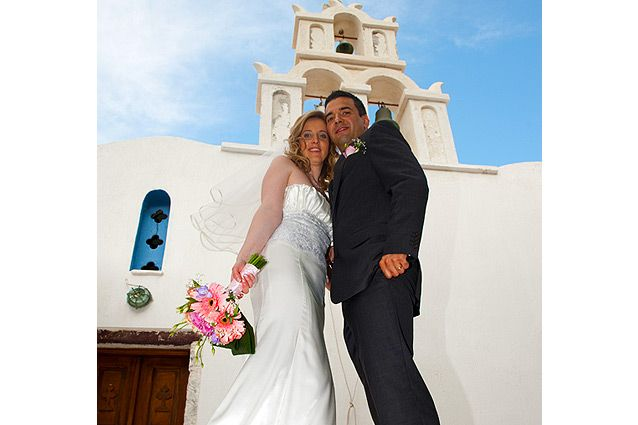 Santorini regligious weddings