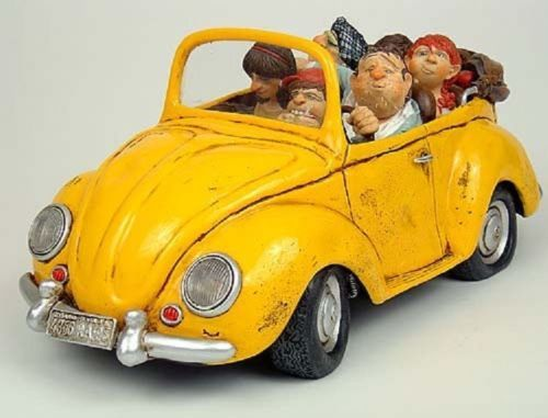 The-comic-art-of-Guillermo-Forchino-A-SUNDAYS-DRIVE-STATUE-CAR-AUTO