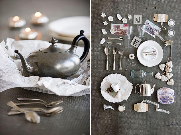 Todos a la mesa navidad rom ntica en tonos plata para un for Orden de los cubiertos en la mesa