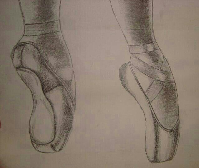 Ballet Shoes Pencil Sketch