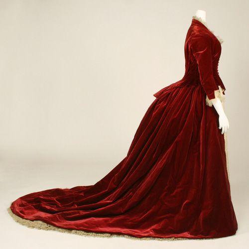 Evening dress ca. 1884 via The Costume Institute of the Metropolitan Museum of Art