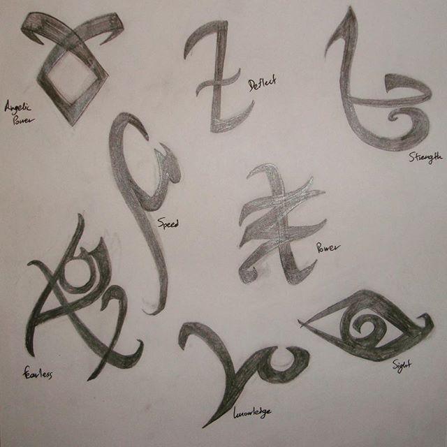 Runes practice     #sketch #practice #shadowhunters #mortalinstruments #rune #shadowrunes #geeky